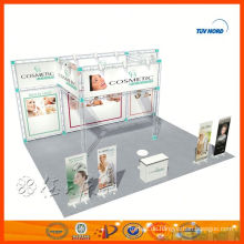 Kundenspezifischer doppelter Ausstellungsstandstallentwurf in Porzellan für Verkauf und Miete