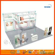 Diseño de puesto de stand de doble exposición personalizada en china para venta y alquiler