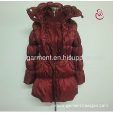 Women Red Stylish Winter Long Coat 2013.
