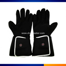 Cowhide Leather Snowboard Battery Heated Gloves