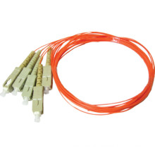 outdoor single core fiber, sc multi mode fiber pigtail / 12 core multi mode fiber optic cable