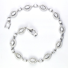925 pulseira de jóias de zircônia cúbica de prata (K-1751 JPG)