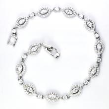 925 Серебряный кубический цирконий ювелирный браслет (K-1751. JPG)