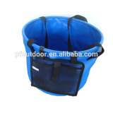 Round bucket for outdoor travel with 500D PVC