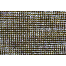 Hot fix golden base Rhinestone mesh 45mm*120mm