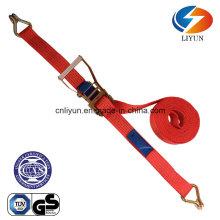 5ton 8m Straps, Ratchet Tie Down W/Double J Hook (EN12195-2)