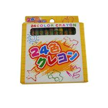 24pcs cera crayon presente e artesanato crianças crachá pigmento estudantes lápis