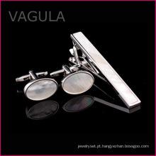 VAGULA venda Shell Tie Pin abotoaduras gravata Bar quente, jogo de casamento festa prendedor de gravata (T62283)