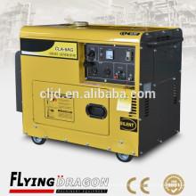 9 kw precio de equipos de generación de energía con sistema de aire refrigerado tipo silencioso portátil genset
