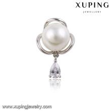00022-xuping moda y diseño simple broche de perla pequeña broche