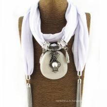 Meilleure vente merveilleux femmes foulard pas cher infini pendentif écharpe bijoux écharpe décorative