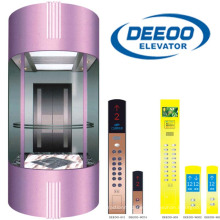 Glass Panoramic Observation Sightseeing Lift Elevator Price