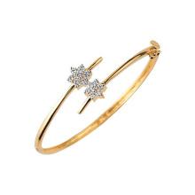 Star forma 925 plata esterlina pulseras de joyería con micro configuración