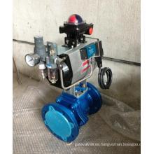 Válvula de bola forrada neumática PFA (Q641F46)
