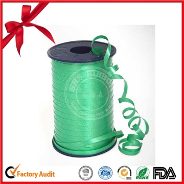 Green Color Thin PP Ribbon Roll for Flowers