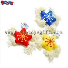 Novo projeto Stuffed Star Pet Toy com corda de algodão e Squeaker Bosw1072 / 15cm