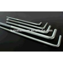 Alta qualidade ferro galvanizado L forma parafuso, l tipo parafuso de ancoragem, l-parafuso