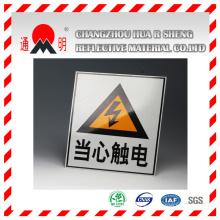 Grade de génie réfléchissante revêtement vinyle pour la signalisation routière AVERTISSEMENT Board (TM7600)