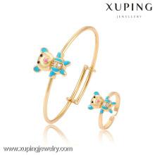 61114- Xuping novo design de moda bebê conjunto de jóias com ouro 18k chapeado
