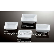 Porcelain square dish,rectangular dish for hotel