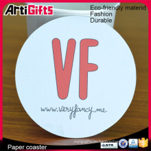 High end print absorbent paper coaster material