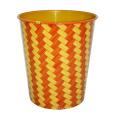 Plástico de diseño de rayas de tapa abierta de basura (A23-827)