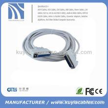 DB25 Pin DB25 Cable de extensión paralelo Cable de extensión paralelo de la impresora Macho a hembra