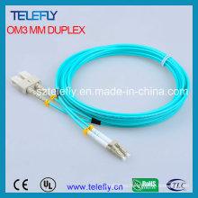 Cable de conexión de fibra Sc-LC Om3