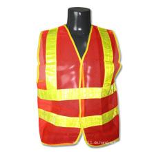 Gitter reflektierende Streifen Orange Mesh hohe Sichtbarkeit Sicherheitsweste (YKY2827)