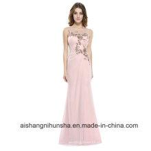 Vestidos de dama de honra baratos Chiffon vestido de dama de honra acolchoado vestidos de dama de honra longos