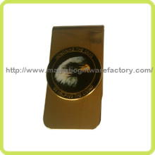 Customized Eagle Badge & Offset Printing Money Clip