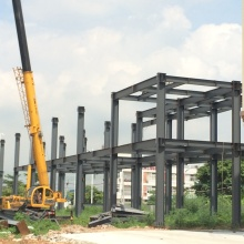 Steel Structure Two Story Warehouse / Workshop Building
