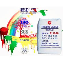 Venda quente alta qualidade dióxido de titânio Rutile para revestimento em pó / revestimento decorativo