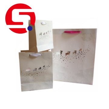 Wholesale bolsas de papel de regalo blanco barato