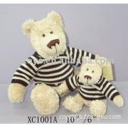 "XC1001 10""/6""  Plush  Teddy Bear With Sweater Toy"