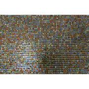 Panas menetapkan rhinestone campuran warna dengan mesh aluminium