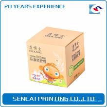 Sencai populaire cosmétiques huile cheval crème emballage boîte de papier