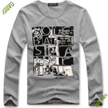 Man Fashion Long Sleeve Printing Cotton T- Shirt