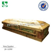 ataúd de cremación de ataúd fabricación venta directa pino personalizado