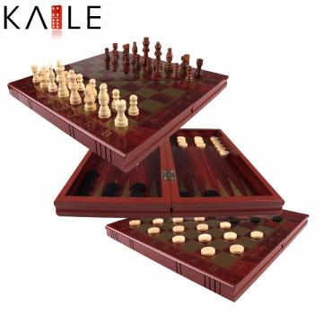 Jogo de xadrez de madeira de alta qualidade