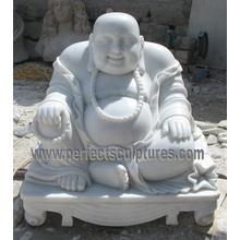 Каменный мрамор Смеющийся Будда для скульптуры статуи фэн-шуй (SY-T143)