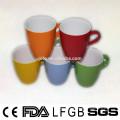P&T chaozhou factory colorful glazed mugs, ceramic coffee mug, custom colors