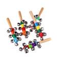 instrumento de música chocalho de madeira brinquedos do bebê