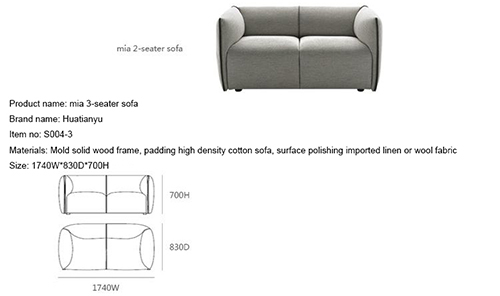 3 Seater Mia Sofa