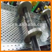 Bandeja de cable Máquina formadora de rollo con punzonado