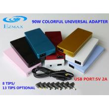 90W Colorido Adaptador AC Universal Adaptador Adaptador