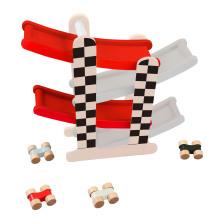 Jeu de voiture en bois F1 Racing Track Jouets pour enfants et enfants