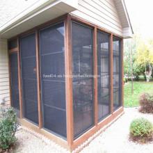 Pantallas de ventana de insectos de fibra de vidrio tejidas lisas