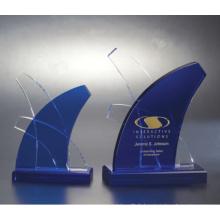 K9 Trophée Cristal De Verre Haute Qualité