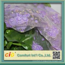Organza tissu imprimé pour rideau en fenêtre